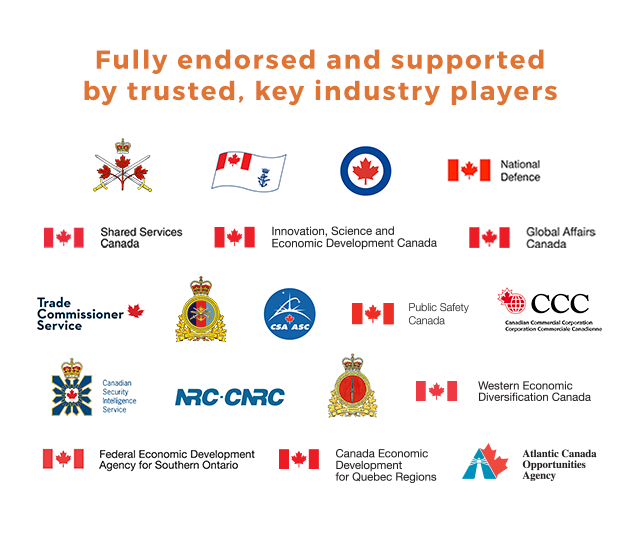 Endorsements for Canadian Defence Marketplace