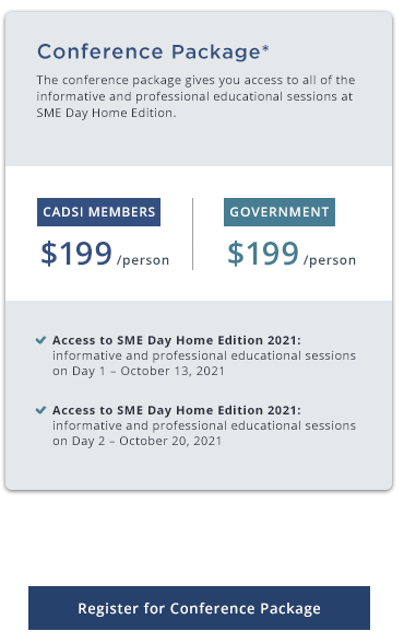 SME Day Home Edition Conference Package